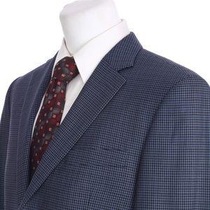 Peter Millar Blue Black Gingham Check Sport Coat